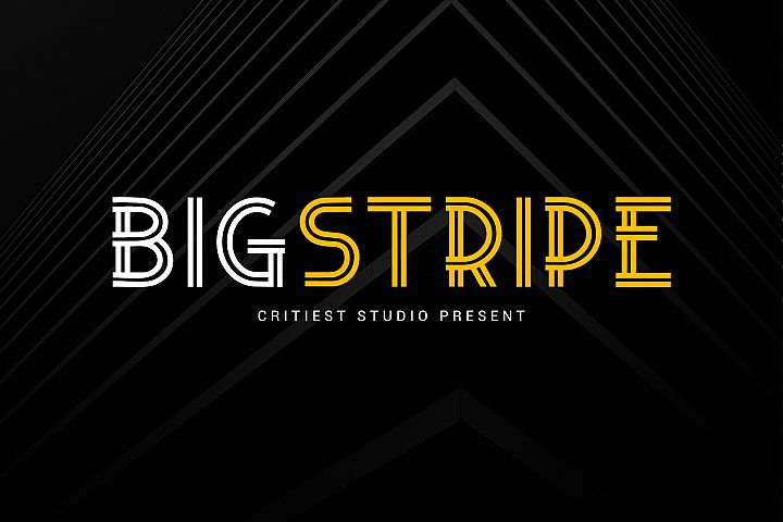 Big Stripe Fonts