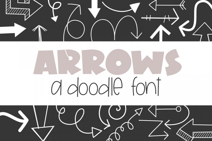 Arrows - A Doodle Font