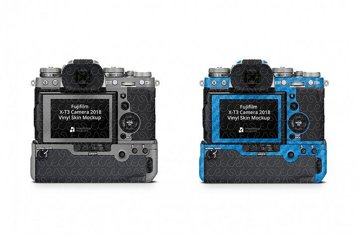 Fujifilm X-T3 Mirrorless Digital Camera 2018 Skin PSD Mockup