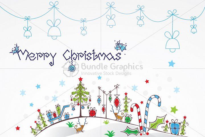 Christmas Celebration Decorative Illustration