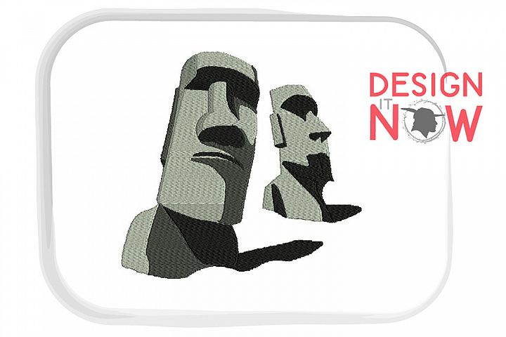 Easter Island Embroidery Design, Easter Embroidery Pattern
