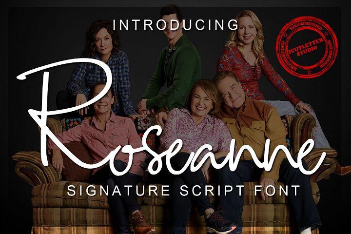 Roseanne - Signature Script Font