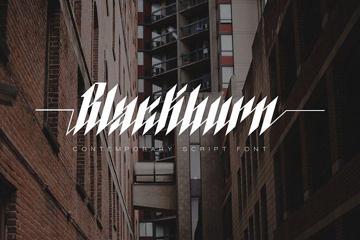 Blackburn Font