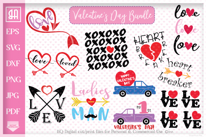 Valentines day bundle SVG, Valentines day designs Bundle