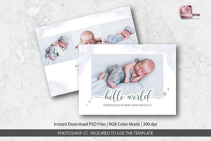 Baby Boy Birth Announcement Template