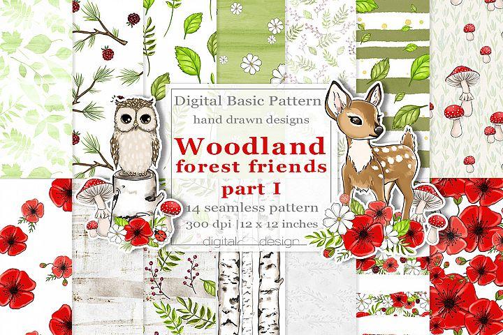 Woodland Forest Friends part 1 - Basic Digital Pattern