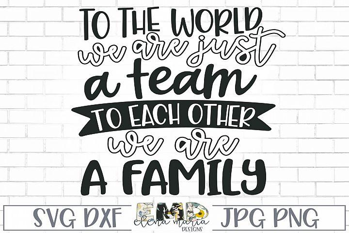 Sports Team Shirt Design Svg | Team Spirit Family Svg