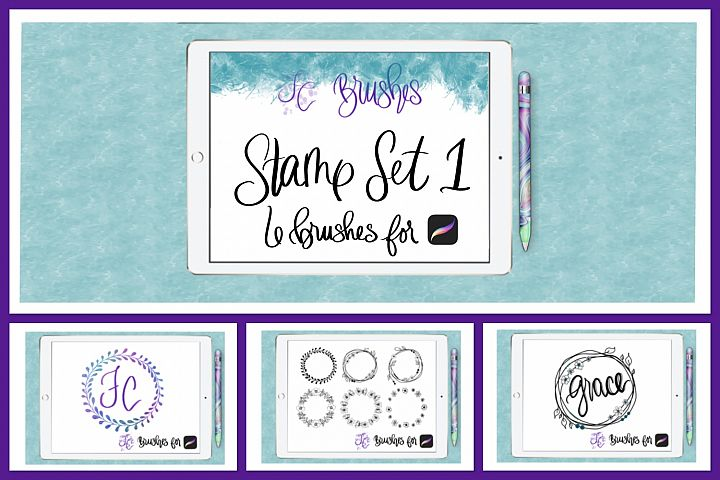 FC-Floral Wreath Stamp Brush Set for PROCREATE