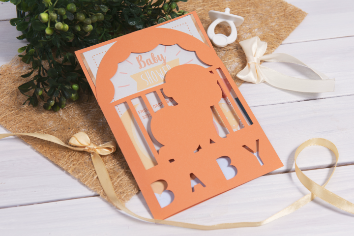 Baby Shower Invitation, Little Baby cutting file