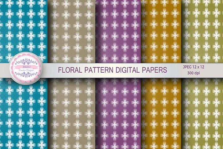 FLORAL PATTERN DIGITAL PAPERS