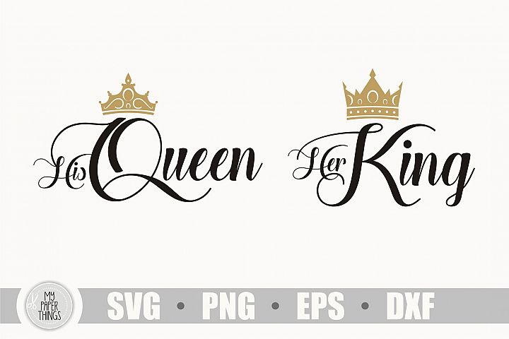 His Queen her King svg, couple shirt