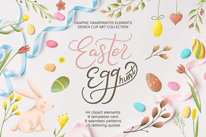 Easter egg-Graphic clipart & lettering