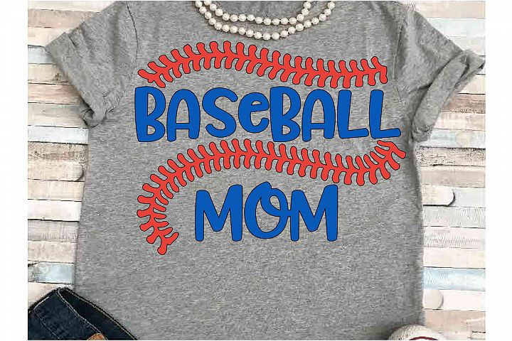 Baseball stitches SVG DXF JPEG Silhouette Cameo Cricut Mom