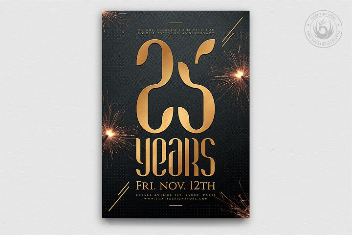 Birthday Anniversary Flyer Template