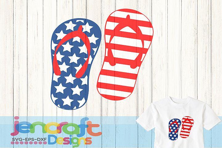 American Flag flip Flops svg, DXF, EPS, Png