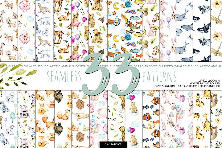 33 Patterns with Animals