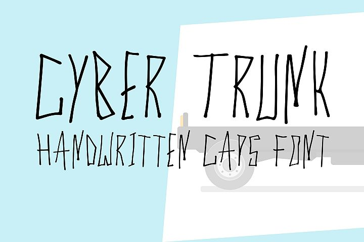 Cyber Trunk - Handwritten Caps Font