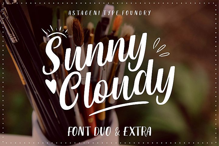 Sunny Cloudy Duo With Extra