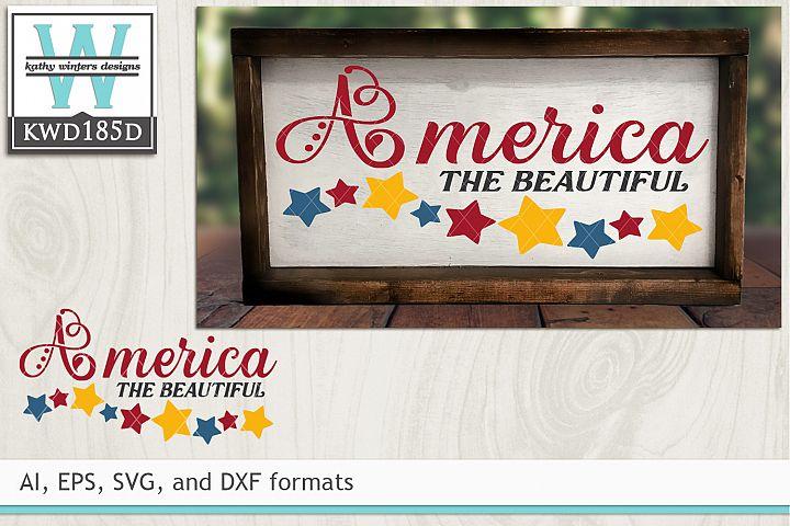 Patriotic SVG - America The Beautiful