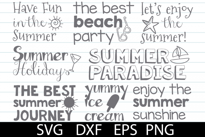 Summer Pack SVG DXF PNG EPS