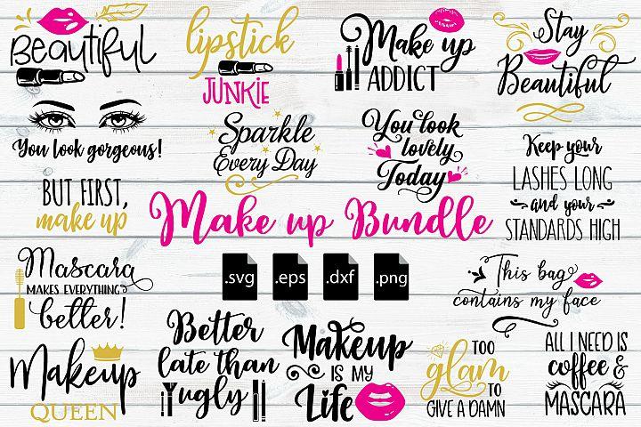 Make up Quotes Bundle SVG, EPS, DXF, PNG