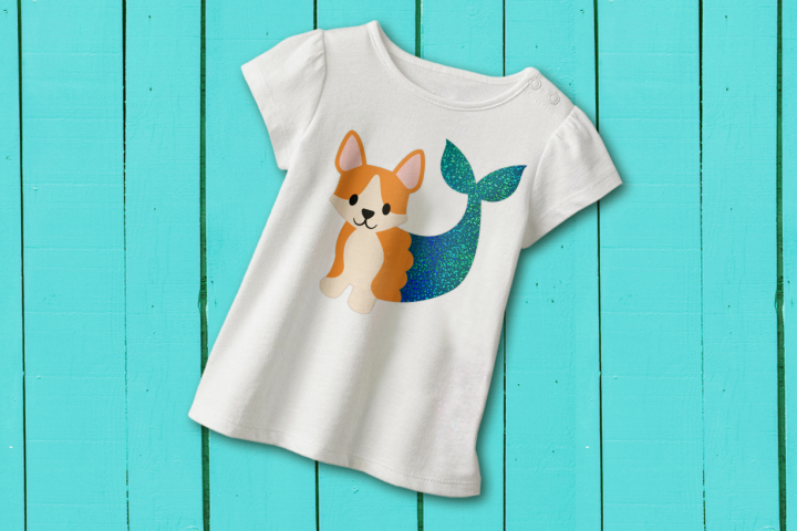 Mermaid Corgi SVG Design
