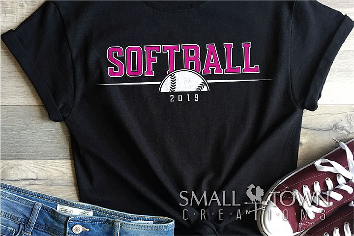 Softball Logo, Ball, Team, Sport, PRINT, CUT & DESIGN