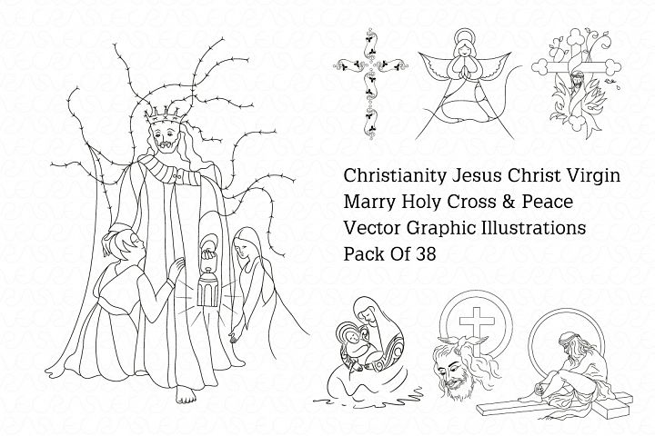 Jesus christ vector illustrations pack