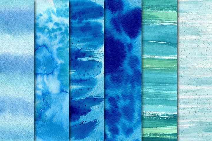 16 Blue watercolor texture