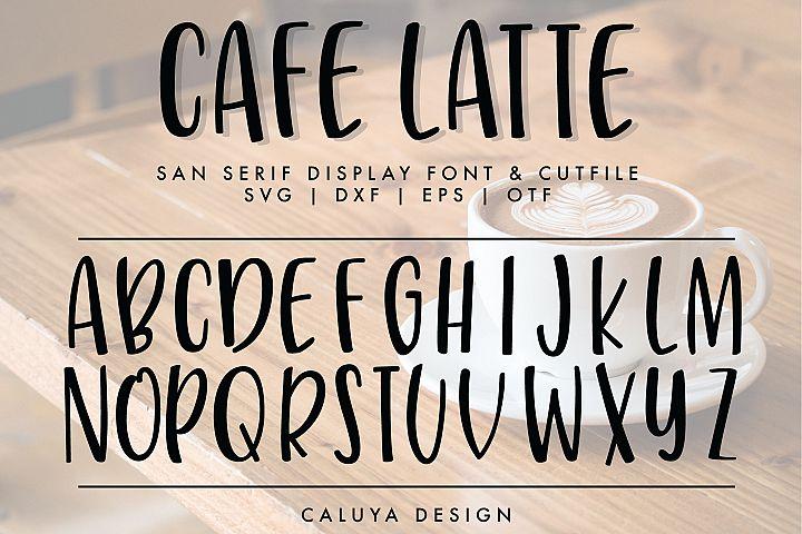 Handwritten San Serif Letters Cut File | SVG, DXF, OTF, TTF
