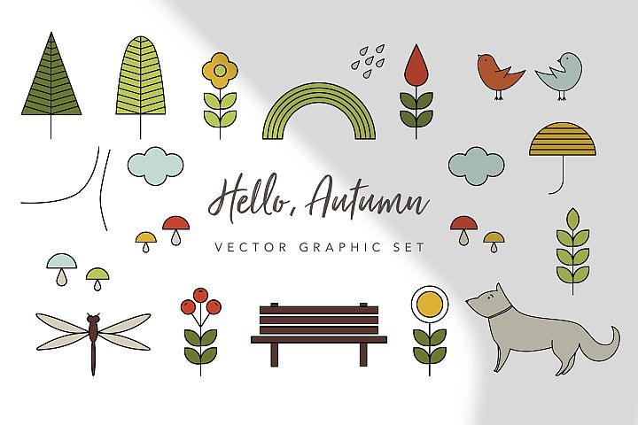 Hello Autumn Graphic Set