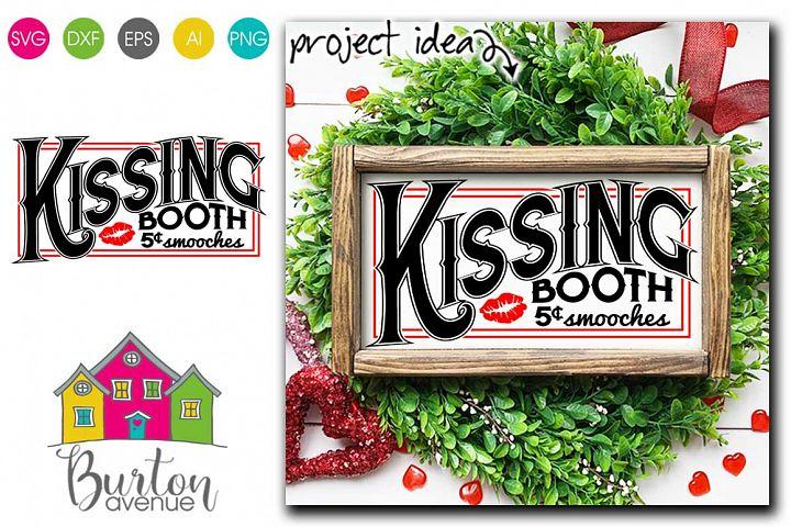 Kissing Booth Valentine SVG File