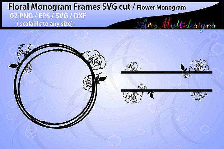 Floral Frames svg / Floral monogram frames / circle frames