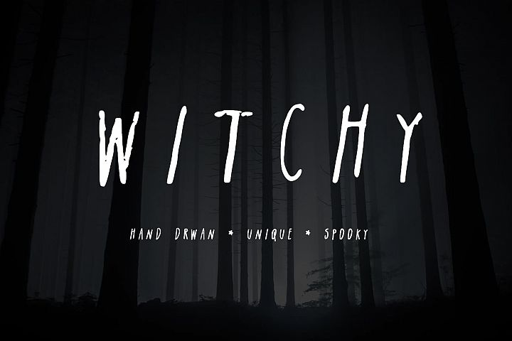 Witchy| A Spooky Sans-Serif