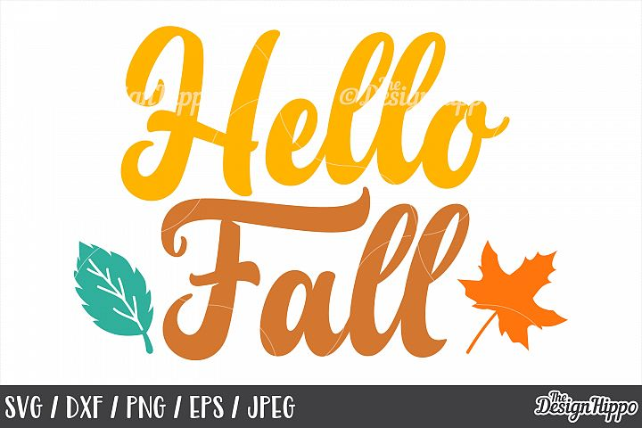 Fall, SVG, Hello Fall, Autumn, October, Leaves, Fall Yall