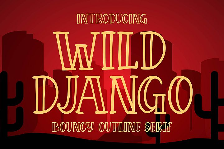 Wild Django - Bouncy Outline Serif