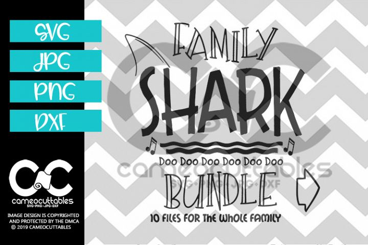 Family Shark Bundle 10 Files SVG,JPG,PNG,DXF