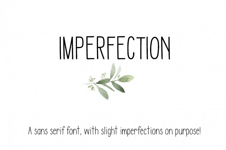 IMPERFECTION - A Sans Serif OTF/TTF Font