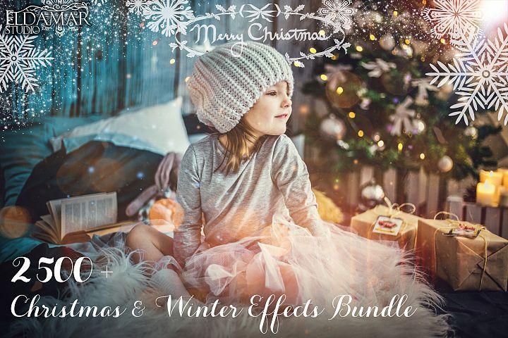 2500 Christmas & Winter Overlays Bundle
