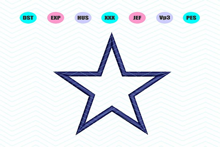 Star Applique Machine Embroidery Design INSTANT DOWNLOAD