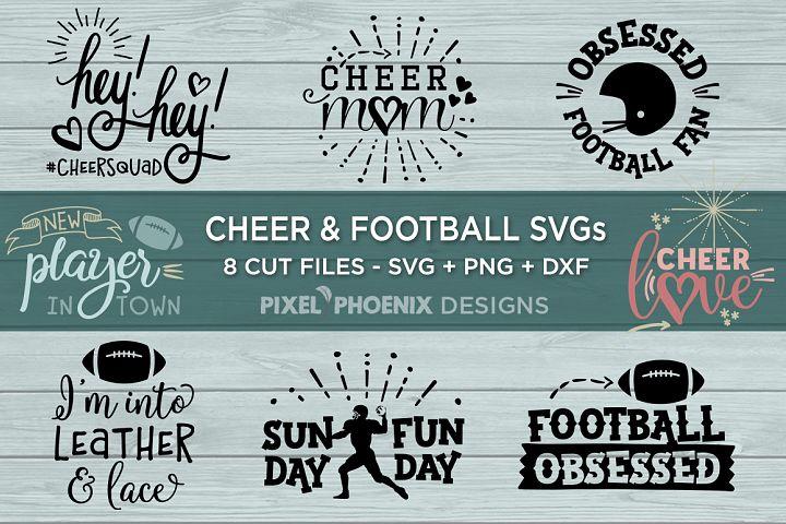 Cheer and Football SVG bundle - 8 designs