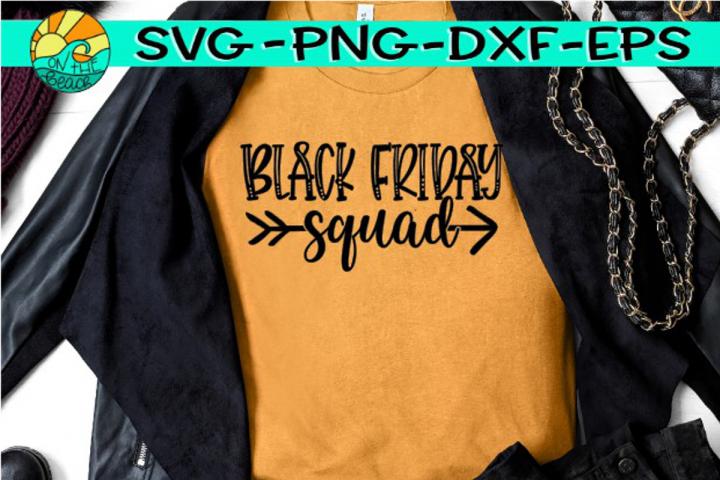 Black Friday Squad - Arrow - Black Friday - SVG PNG EPS DXF