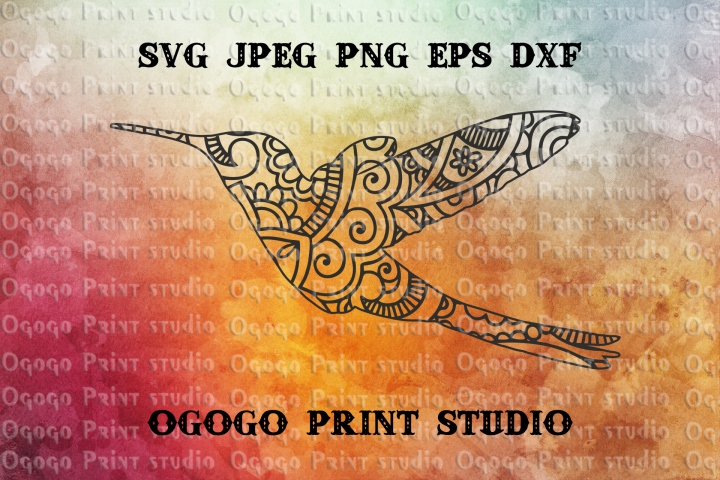 Hummingbird SVG, Mandala Svg, Zentangle SVG, Colibri Svg