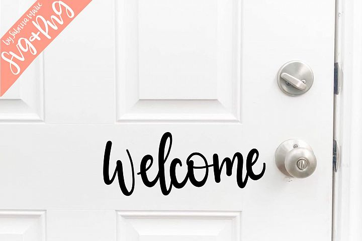 Handlettered Welcome SVG & PNG