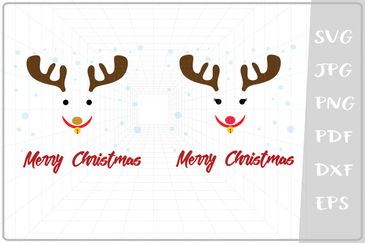 Boy and Girl Raindeers svg, Merry Christmas svg