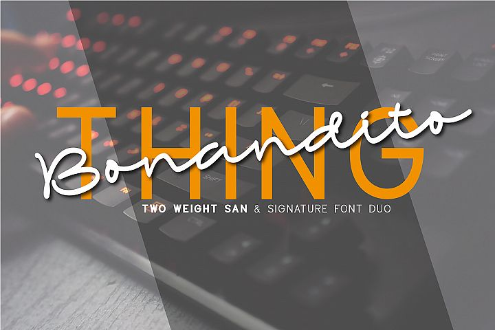 Bonandito Thing Font Duo
