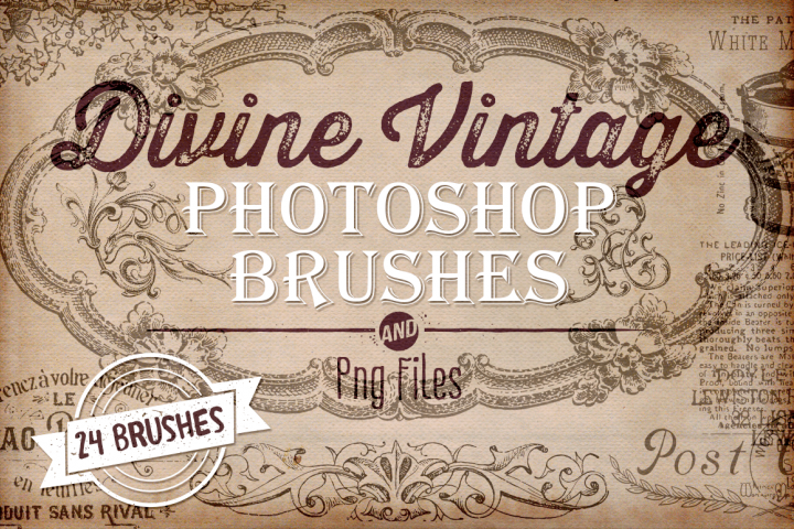 Divine Vintage Illustrations & Photoshop Brushes