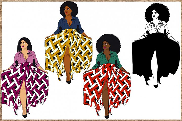 Bundle svg Black woman Nubian Princess black woman