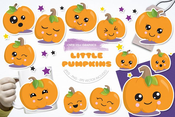 Little Pumpkin graphic and illustrations