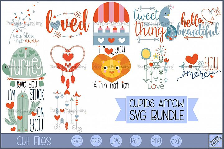 Cupids Arrow - 12 SVG, Clipart, Printable Files